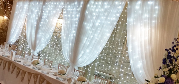 Fairy Light Backdrop Room Draping Entrance Drapes Window Drapes