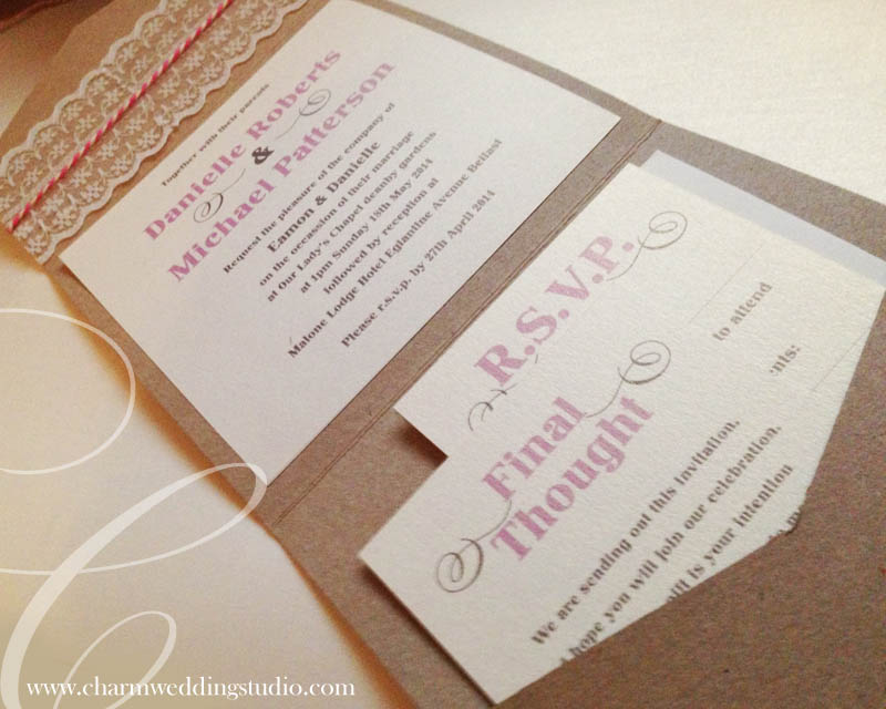 Wedding Stationery, Belfast, Northern Ireland, Invitations, Place ...